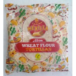 Pšeničná tortilla 25cm, 18ks (18x 60g)