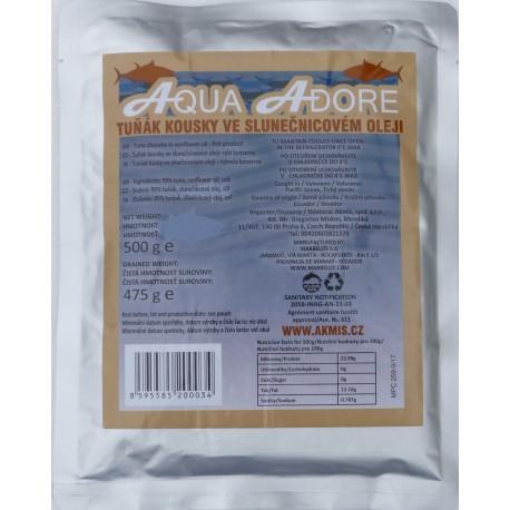 Tuňák kousky v oleji 500g (95% maso)